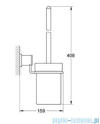 Grohe Allure szczotka toaletowa kpl. chrom 40340000