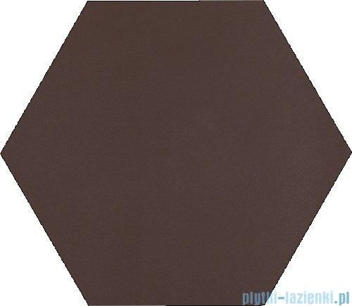 Paradyż Natural brown klinkier heksagon 26x26
