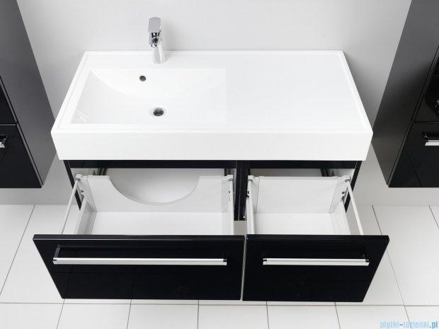 Antado Variete szafka z umywalką, wisząca 100 czarny połysk FM-442/6GT-9017 + FM-442/4GT-9017 + UNAM-1004L