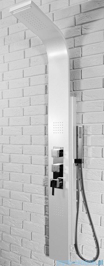 Rea panel natryskowy aluminiowy z mieszaczem i kaskadą biały 8725Biały