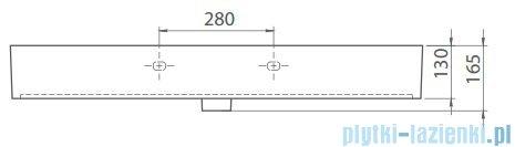 Cerastyle Pinto umywalka 101x46,5cm meblowa / ścienna 080500-u