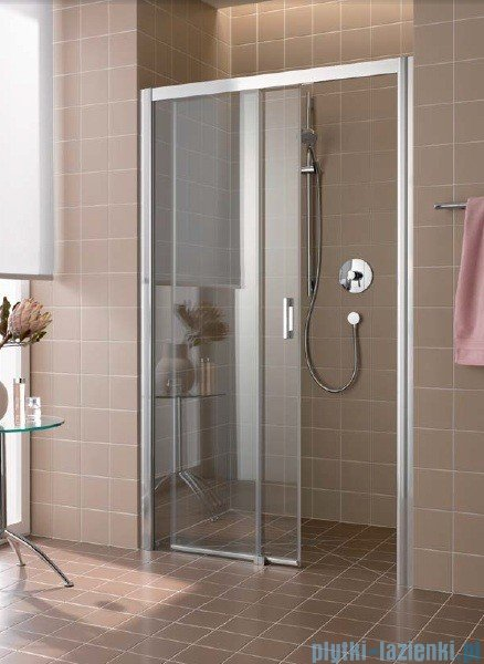Kermi Atea Drzwi przesuwne bez progu, lewe, szkło przezroczyste KermiClean, profile srebrne 160x200 ATD2L16020VPK