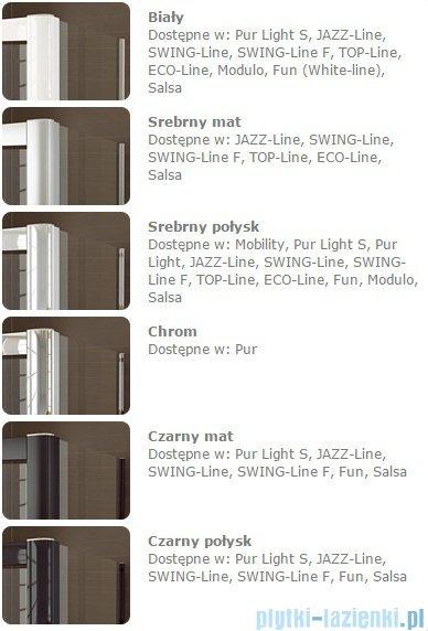 SanSwiss Melia MET1 ścianka lewa wymiary specjalne 90-140/do 200cm cieniowane czarne MET1PGSM21055