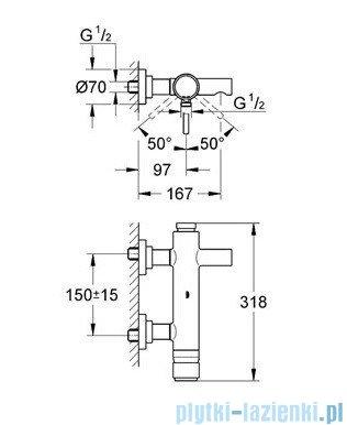 Grohe Atrio jednouchwytowa bateria wannowa chrom 32652001