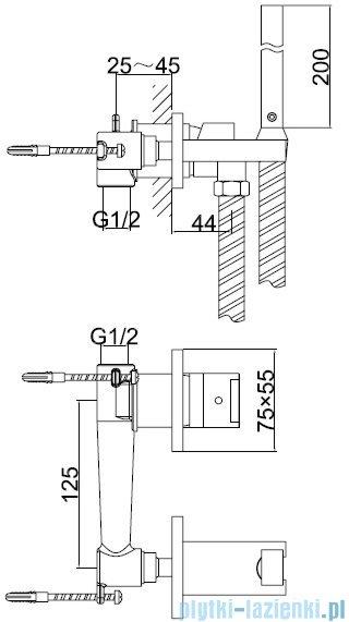 Kohlman Excelent bateria bidetowa-podtynkowa chrom QW135H