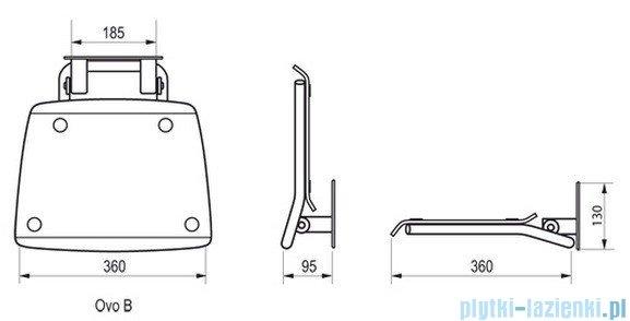 Ravak Siedzisko Ovo B Clear do kabin prysznicowych B8F0000015