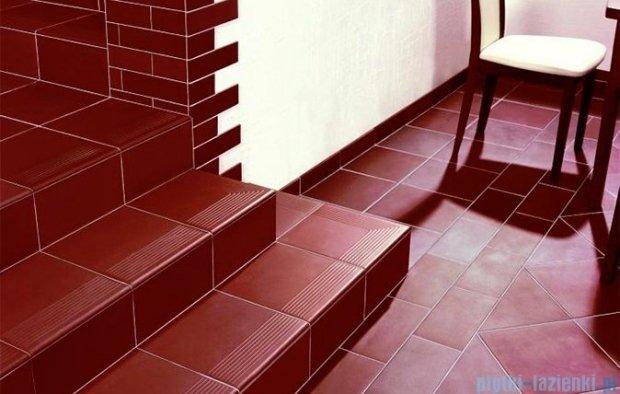 Paradyż Natural brown duro klinkier cokół schodowy prawy 8x30