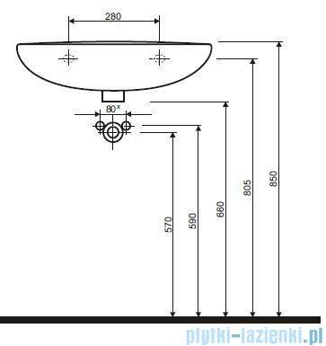 Koło Idol Umywalka 60cm z otworem M11160000