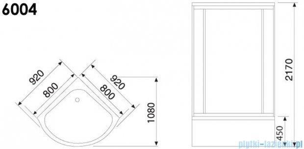 Duschy Kabina z hydromasażem 80x80cm model 6004