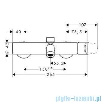Hansgrohe Axor Citterio M Jednouchwytowa bateria wannowa natynkowa DN15 34420000