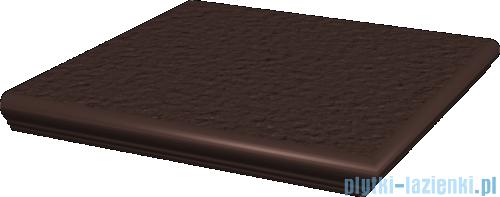 Paradyż Natural brown duro klinkier stopnica z kapinosem narożna 33x33