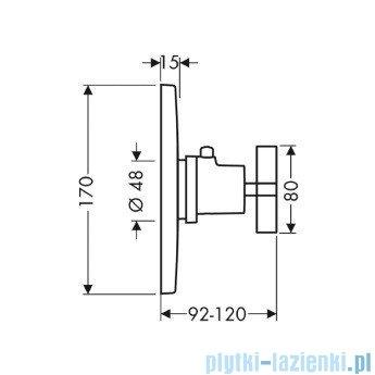 Hansgrohe Axor Citterio Bateria termostatyczna podtynkowa chrom 39715000