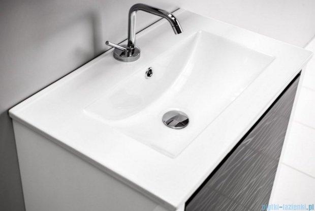 Antado Pacific New szafka z umywalką ceramiczną prawa 59x38x82 biały połysk PF-141/6R-WS/47+UCE-60
