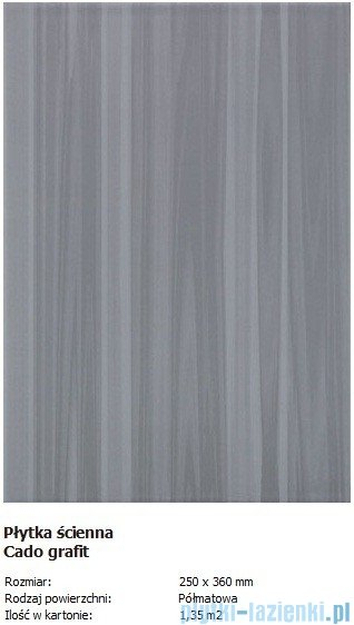 Domino S-Cado grafit 25x36
