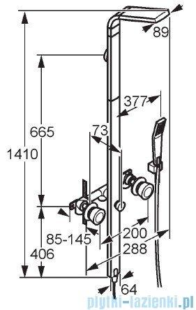 Kludi Joop Kolumna natryskowa 141cm DN 15 chrom 557690505
