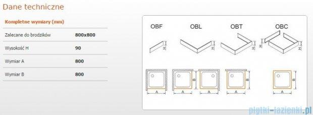 Sanplast Obudowa brodzika OBL 80x80x9 cm 625-400-1020-01-000