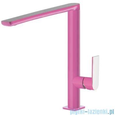Tres Loft Colors Bateria umywalkowa z korkiem automatycznym kolor różowy 200.205.03.FU.D