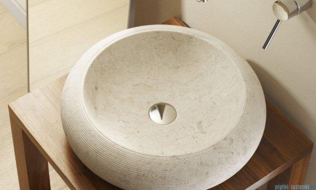 Bathco Fiji umywalka nablatowa kamienna 45cm beige 00316