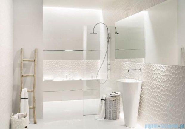 Tubądzin All in white / white mozaika ścienna 28,2x30,6