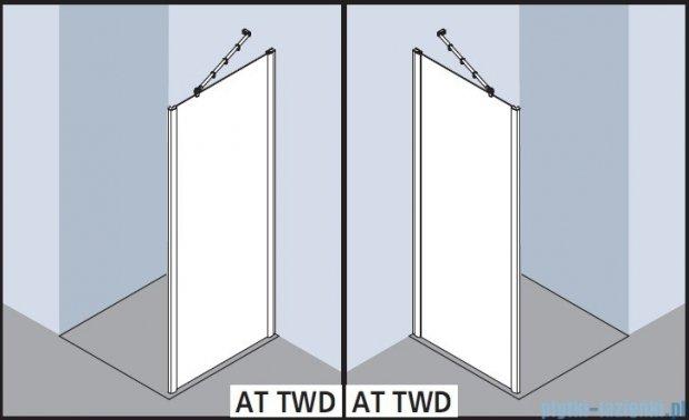 Kermi Atea Ściana boczna, szkło przezroczyste z KermiClean, profile białe 100x185cm ATTWD100182PK