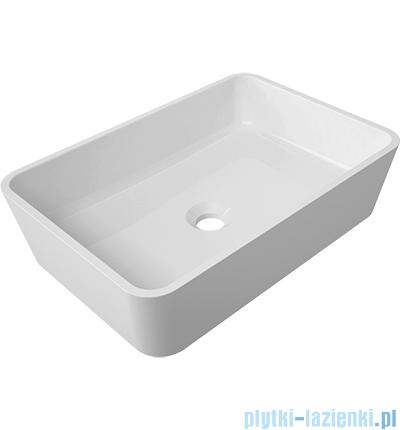 Omnires Marble+Parma UN umywalka nablatowa 50x35cm biały połysk