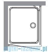 Kerasan Retro Kabina prostokątna prawa szkło piaskowane profile brązowe 80x96 9144S3