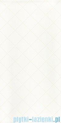 Paradyż Tonnes bianco kratka płytka ścienna 30x60