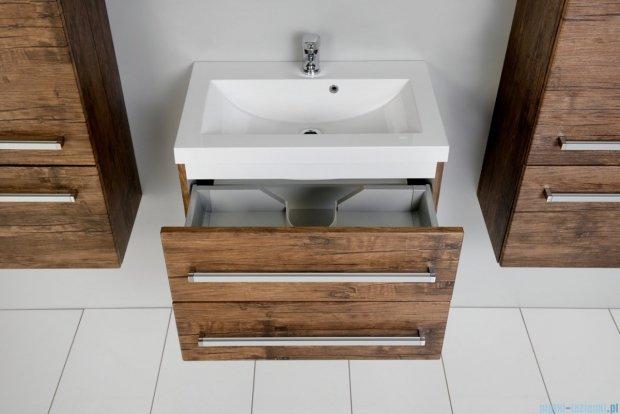 Antado Spektra szafka z umywalką, wisząca 60x39x40 stare drewno FDF-C-442/6/2GT-50 + UMMC-600x390