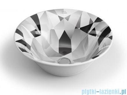 Bathco New Nordic Diamante Umywalka 40x40cm nablatowa 4062/B63