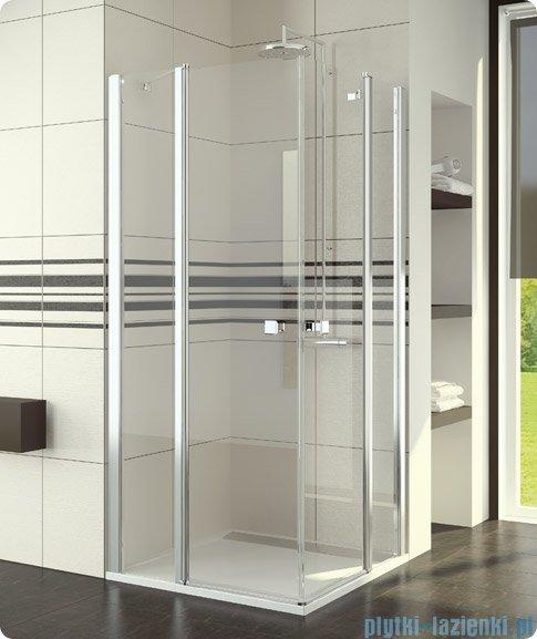 SanSwiss Swing Line SLE2 Wejście narożne 90cm profil srebrny Prawe SLE2D09000107