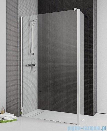 Radaway Eos II Walk-in kabina prysznicowa 100 lewa szkło przejrzyste + brodzik Delos C + syfon 3799502-01L/SDC1010-01