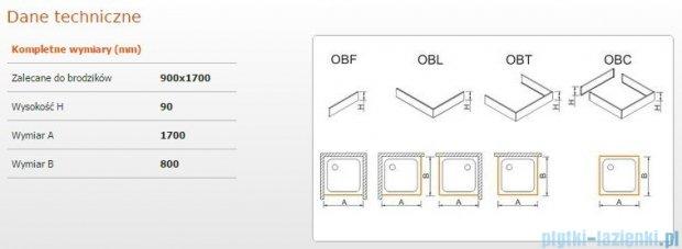 Sanplast Obudowa brodzika OBL 90x170x9 cm 625-400-1600-01-000