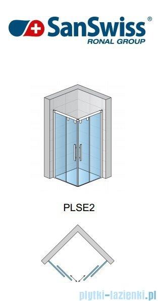 SanSwiss Pur Light S PLSE2 SM Drzwi narożne rozsuwane 70-120cm Prawe PLSE2DSM25007