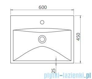 Cerastyle Elite umywalka 60x45cm meblowa / ścienna 032000-u