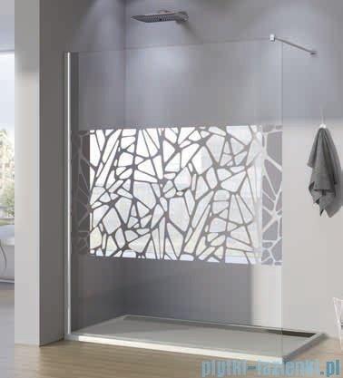 SanSwiss Walk-in Pur PDT4P Kabina 120x200cm szkło dekor kamienie PDT4P1201064