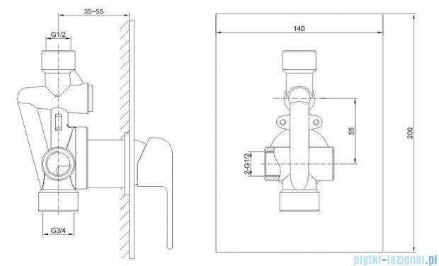 Kohlman Saxo zestaw prysznicowy chrom QW220SQ20