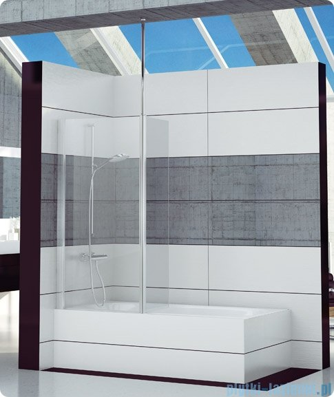 SanSwiss Fun Fbd2 Ścianka 1-częściowa nawannowa 80cm profil połysk FBD208005007
