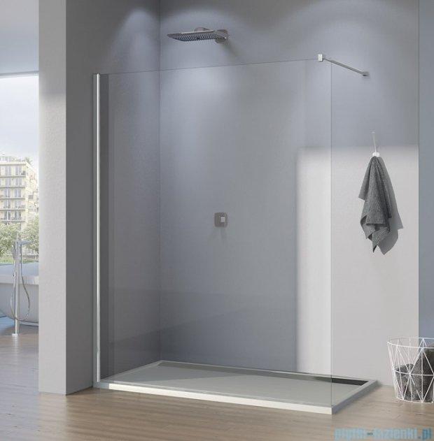 SanSwiss Pur PDT4P Ścianka wolnostojąca 120cm profil chrom szkło Pas satynowy PDT4P1201051