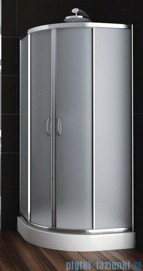 Aquaform Nigra kabina prysznicowa półokrągła 80x80x185cm chrom szkło satinato 100-091112P