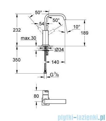 Grohe Allure bateria umywalkowa bez zestawu odpływowego chrom 23076000