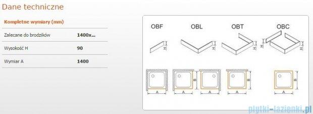 Sanplast Obudowa frontowa do brodzika OBF 140x9 cm 625-400-0370-01-000