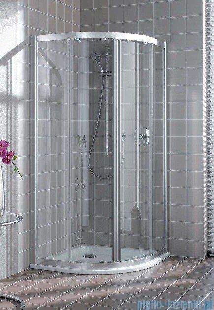 Kermi Atea Kabina ćwierćkolista, drzwi przesuwne, szkło przezroczyste, profile białe 100x100cm ATQ10100182AK