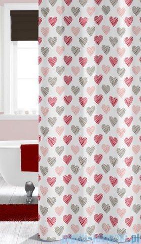 Sealskin Amor Red zasłona prysznicowa tekstylna 180x200cm 235241359