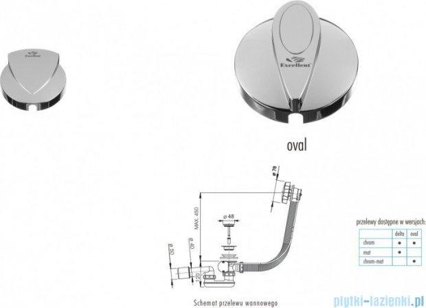 Excellent Delta syfon odpływowo-przelewowy 80cm chrom AREX.1541CR