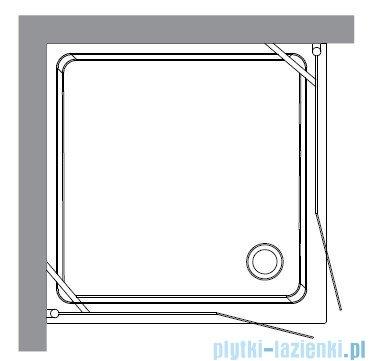 Kerasan Retro Kabina kwadratowa szkło przejrzyste profile złote 100x100 9148T1