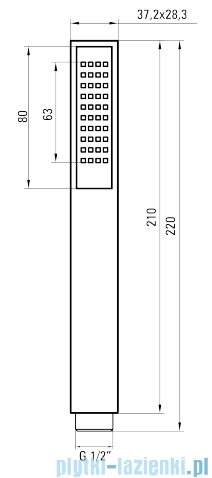 Deante Vigo komplet podtynkowy chrom NAC 09WP