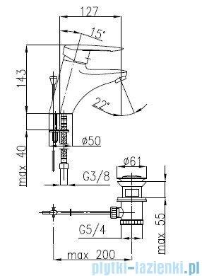 KFA SALIT Bateria umywalkowa stojąca 4502-815-00