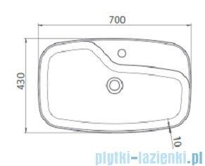 Cerastyle Nova umywalka 70x43cm nablatowa 074400-u