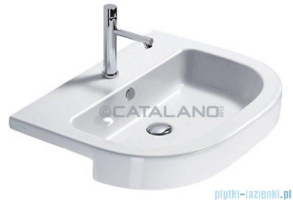 Catalano Semincasso 65 umywalka wpuszczana w blat 65x46 cm biała 1LSZE00