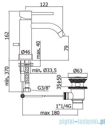 Paffoni Light bateria umywalkowa z korkiem automatycznym chrom LIG075